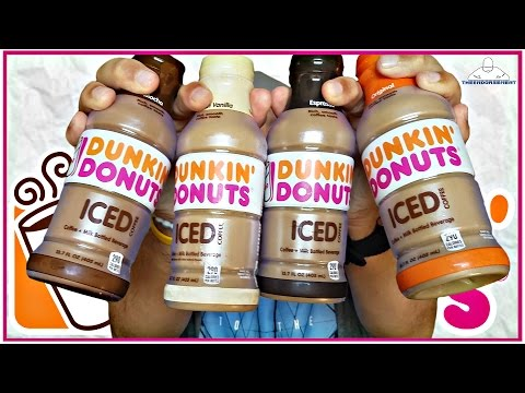 DUNKIN DONUTS® | BOTTLED ICED COFFEE REVIEW | ALL 4 NEW FLAVORS