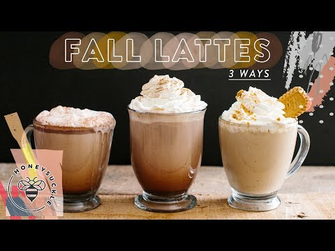 3 EASY FALL LATTES – Honeysuckle
