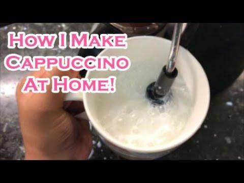 How I make Cappuccino at Home |  Morphy Richards New Europa Espresso/Cappuccino Coffee Maker Demo