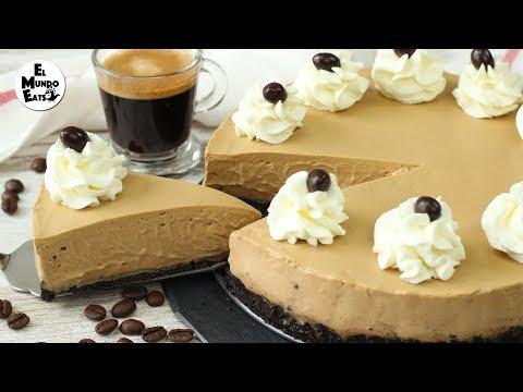 No-Bake Coffee Cheesecake | El Mundo Eats recipe #198