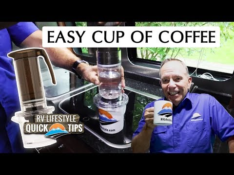 Single K-Cup French Press For Boondocking Coffee/No Power Coffee | RV Quick Tips