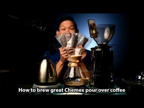 How to brew great Chemex pour over coffee