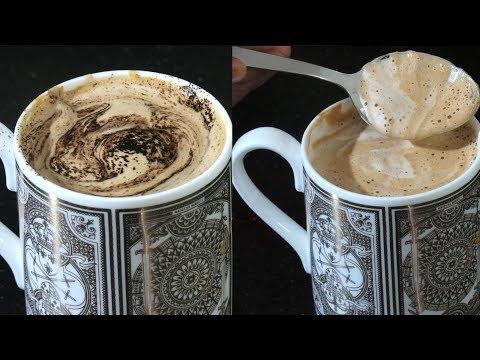 बिना मशीन के झाग वाली क्रीमी कॉफ़ी बनाये इस बोतल से // Coffee Recipe //