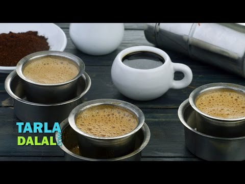 South Indian Filter Coffee recipe, Filter Coffee by Tarla Dalal