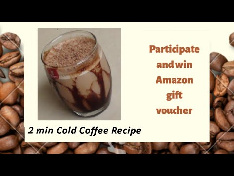 2 min Cold Coffee Recipe by Jinky Jain – How To Make Cold Coffee – Iced Coffee Recipe