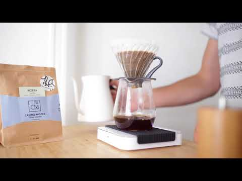 Pour over coffee brewing – step by step using a cone dripper (V60)