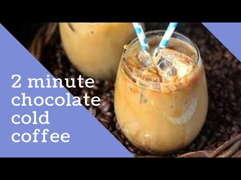 Chocolate cold coffee recipe | Easy to make at home recipe | By lavender blue
