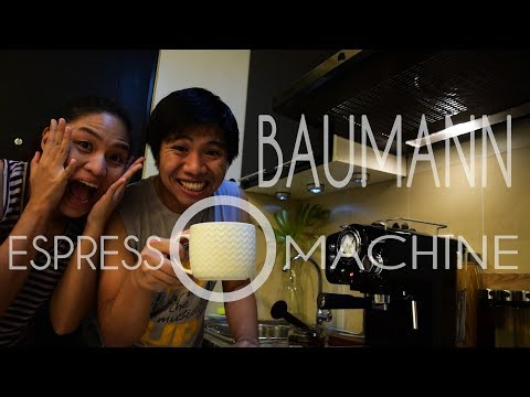 TRYING OUR VERY FIRST ESPRESSO MACHINE | Baumann Retro Espresso Machine Philippines | vlog #12
