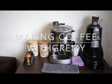 Making a Flat White with the Gaggia Evolution espresso machine