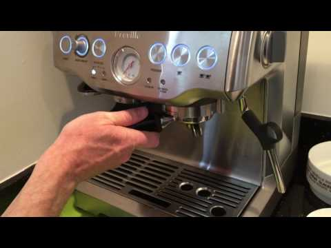 Using the Breville Barista Express espresso machine