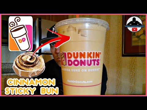 Dunkin Donuts® | Cinnamon Sticky Bun Iced Coffee Review! ☕