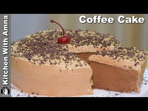 Coffee Cake Without Oven – Soft Coffee Sponge Cake Recipe – Kitchen With Amna