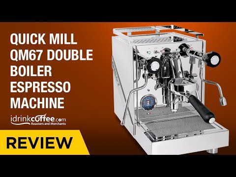 iDrinkCoffee.com Review Quick Mill QM67 Double Boiler Espresso Machine