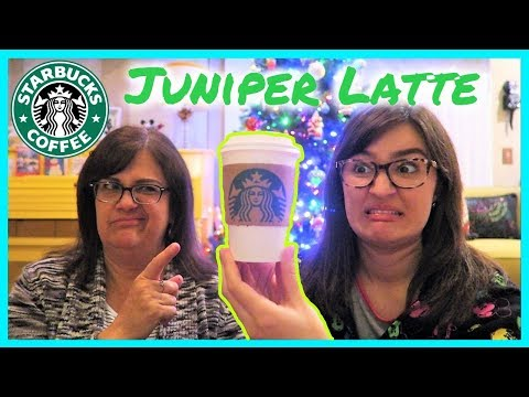 STARBUCKS Juniper Latte REVIEW! Tree Coffee?? – VLOGMAS DAY 14