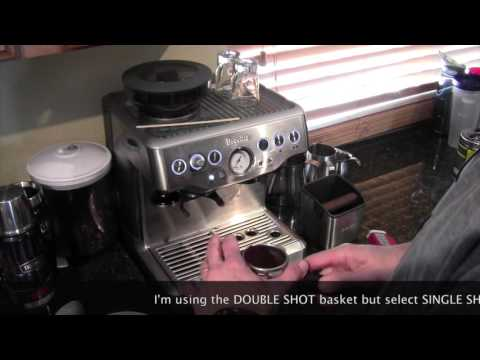 An Americana on the Breville BES870XL Barista Express Espresso Machine