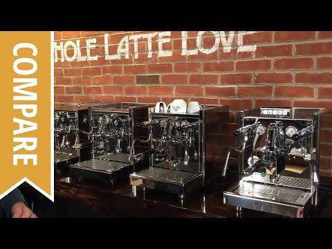 Compare: ECM Mechanika, Technika IV, Technika IV Profi, Elecktronica Espresso Machines