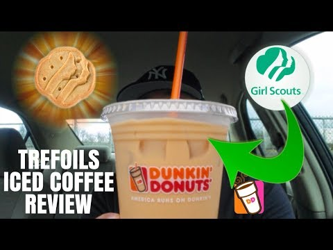 Dunkin' Donuts® | Trefoils Girl Scout Cookie Iced Coffee Review!