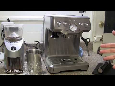 "Review and demo for the Breville BES840XL ""the Infuser"" Espresso Machine and pump replacement tip"