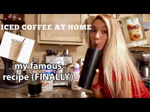 how i make my iced coffee at home