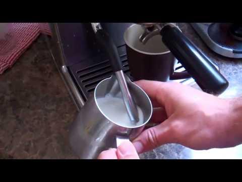 Sunbeam EM7000 making a coffee demo