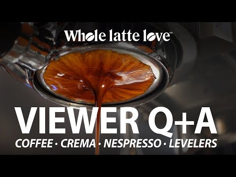 Coffee Q+A: Espresso Levelers, Nespresso, Measuring Crema & More
