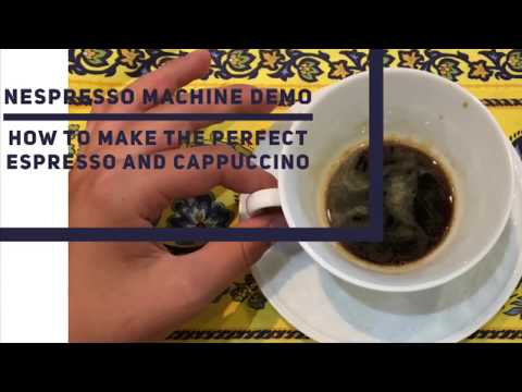 Nespresso machine demo