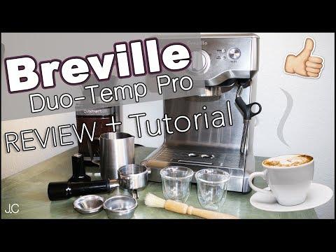 BREVILLE ESPRESSO MACHINE REVIEW + TUTORIAL [ Duo-Temp Pro ] Jordan Cornwell