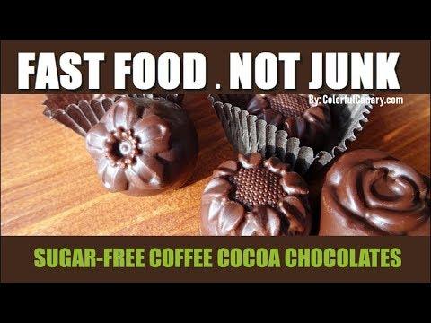Sugar-free Coffee Cocoa Chocolates Recipe | 4 Ingredients!