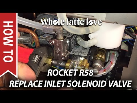 How To Replace Inlet Solenoids Rocket R58 Espresso Machine