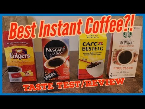 The Best Instant Coffee? A Coffee Taste Test and Review