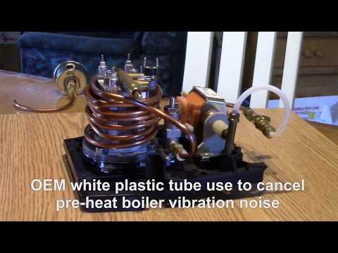 Gaggia espresso machine mod preheat copper tube and add OPV