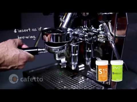 Cleaning a Domestic Traditional Espresso Machine with Cafetto