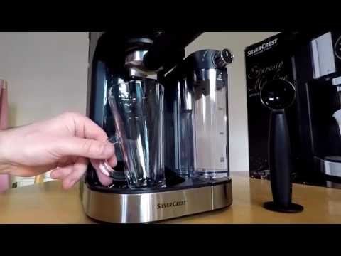 SilverCrest espresso machine from Lidl. Model: SEMM 1470 A1