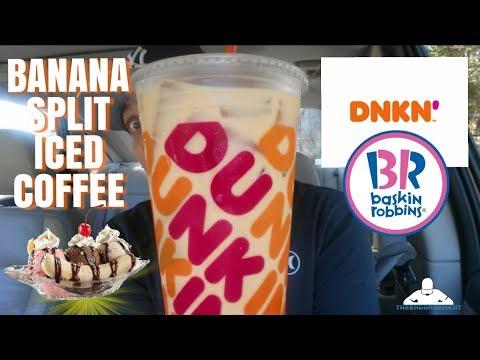 Dunkin'® Banana Split Iced Coffee Review! | 🍌🍨☕