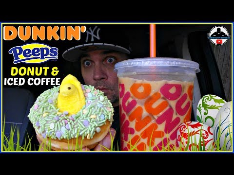 Dunkin'® Peeps® Marshmallow Iced Coffee Review! 🍩🐇☕ | Peeps® Donut
