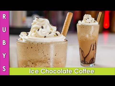 Cold Chocolate Ice Coffee and Evaporated Milk Recipe in Urdu Hindi – RKK