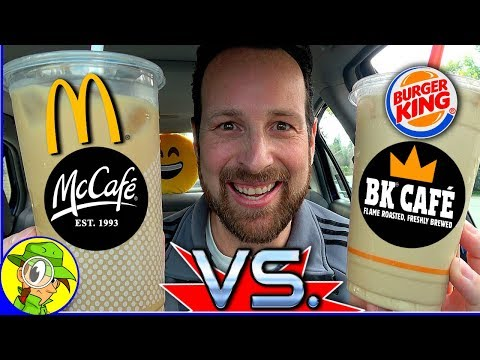 BK® Café VS Mcdonald's® McCafé® ☕ 🆚 ☕ | Vanilla Iced Coffee | In-Depth Review! 🍔👑