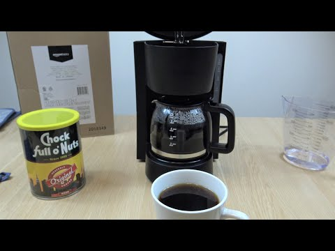 amazonbasics 5 Cup Coffee Maker Review Demo