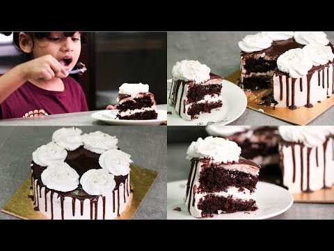 EGGLESS COFFEE CHOCOLATE CAKE RECIPE I WITHOUT OVEN l INTRODUCING MY DAUGHTER