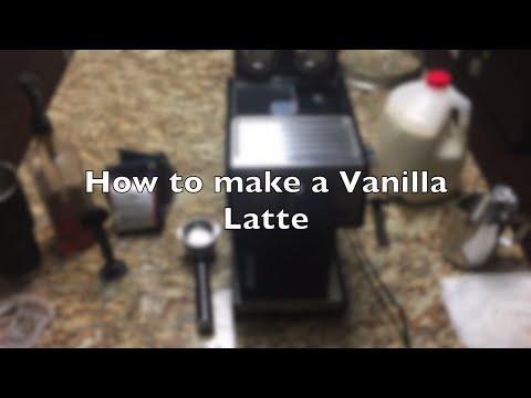 How to make a Vanilla Latte on a DeLonghi Espresso machine