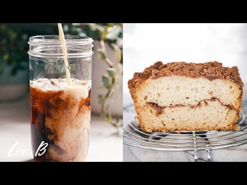 Oatmeal Cookie Iced Coffee + Vegan Cinnamon Loaf Recipe