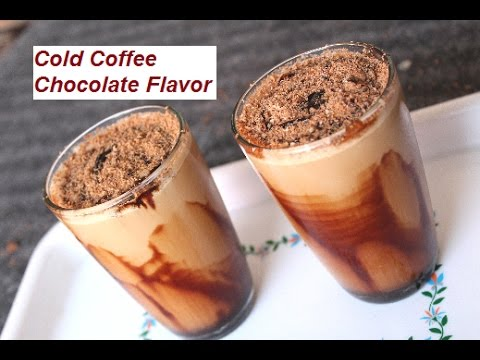 Summer Special Cold Coffee Chocolate Flavor   Cold Coffee Beverage Recipe At Home