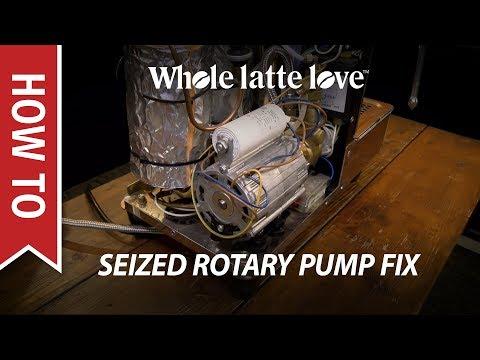 How to Fix a Seized Espresso Machine Rotary Pump