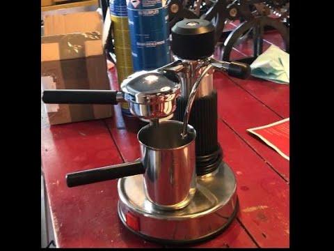 Espresso machine part on turning lathe – AMA Milano