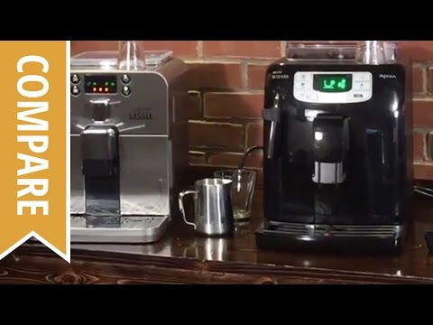 Compare: Gaggia Brera to Saeco Intellia Espresso Machines