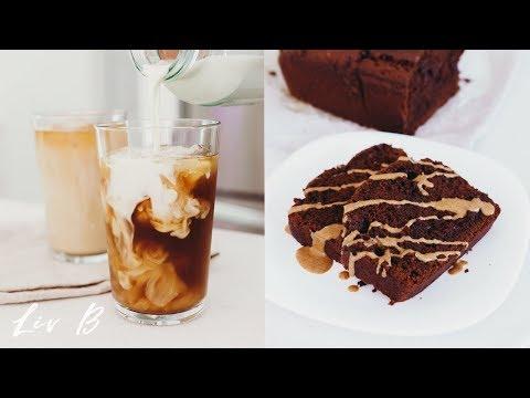 Double Chocolate Banana Bread + Iced Dirty Chai Recipe | Liv B