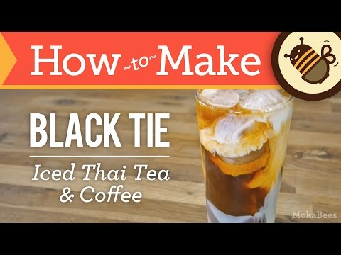 How to Make Black Tie Coffee (Thai Iced Tea & Coffee Recipe) – from Thailand