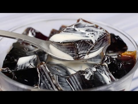Coffee Jelly (Coffee Jello Recipe) | Cooking with Dog