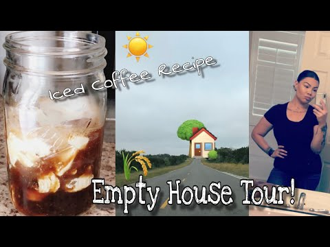 WEEKLY VLOG | Empty House Tour + My *at home* Iced Coffee Recipe ☕️