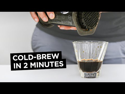 How to AeroPress Cold-Brew Coffee in Two Minutes
